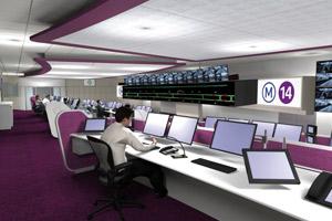 Modélisation du futur Poste de Commandement Centralisé de la ligne 14.