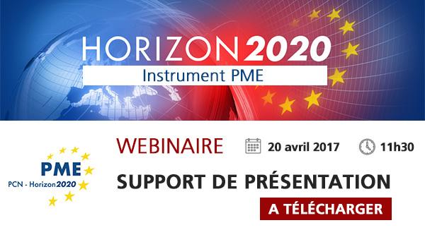 Présentation Webinaire H2020 Instrument PME