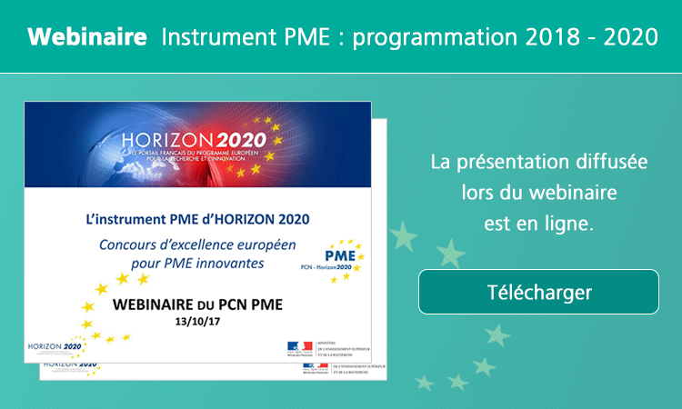 Webinaire Instrument PME :programmation 2018 - 2020