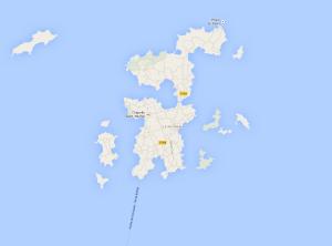 L'île de Bréhat (Côtes-d'Armor), lieu d'expérimentation des hydroliennes.